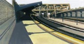 Smith & 9th St. Platform, Oil on Panel
